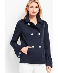 Talbots - Cotton Peacoat - Lyst