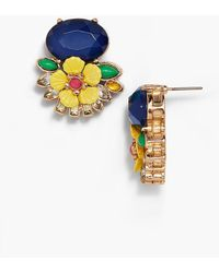 Talbots | Layered Flowers And Stones Stud Earrings | Lyst
