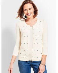 Talbots - Charming Cardigan - Embroidered Dot - Lyst