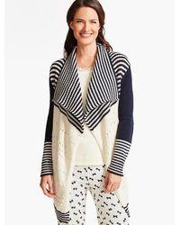 Talbots - Stripe & Colorblocked Robe - Lyst