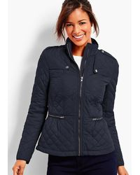 Talbots - Quilted Military Coat - Lyst