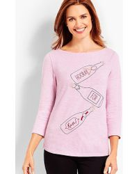 Talbots - Hooray For Rose Top - Lyst