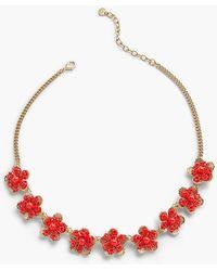Talbots - Textured Petals Flower Necklace - Lyst