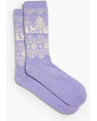 Talbots - Fair Isle Holiday Scene Trouser Sock - Lyst