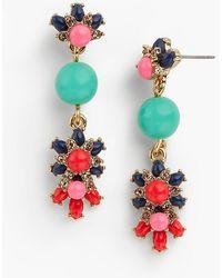 Talbots - Flowers & Bead Drop Earrings - Lyst