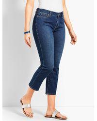 Talbots - Denim Straight Leg Crop - Curvy Fit/decker Wash - Lyst