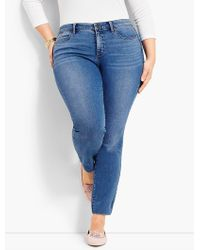 Talbots - Woman Exclusive Luxe Stretch Denim Slim Ankle - Easton Wash - Lyst