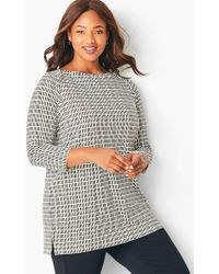 01013166dd7cf5 Talbots - Plus-size Envelope-neck Tee - Lyst. Talbots - Plus Size Knit  Jersey Gathered-neck Top ...