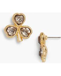 Talbots - Lucky Clover Earrings - Lyst
