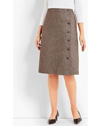 Talbots - Donegal Tweed A-line Skirt - Lyst