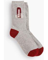 Talbots - London Phone Booth Trouser Socks - Lyst