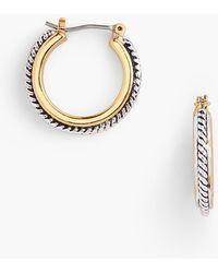 Talbots - Textured Hoop Earrings - Lyst