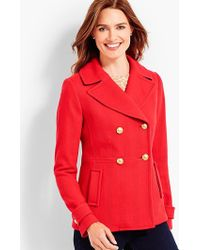 Talbots - Double-breasted Peacoat - Lyst