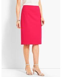 41c7da78e3cc7 Talbots - Luxe Italian Double-cloth Pencil Skirt - Lyst