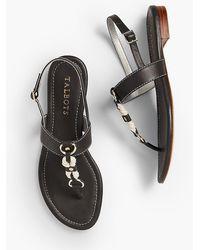 Talbots - Keri T-strap Sandals - Rope & Nappa - Lyst