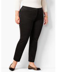 Talbots - Plus Size Velveteen Hampshire Ankle Pant - Lyst