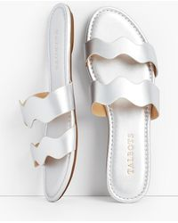 Talbots - Sadie Wave Slide Sandals - Metallic - Lyst