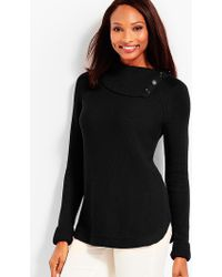 Talbots - Button-cuff Turtleneck Jumper - Lyst