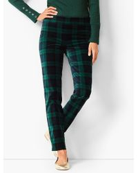 Talbots - Chatham Velveteen Ankle Pants - Black Watch Plaid - Lyst