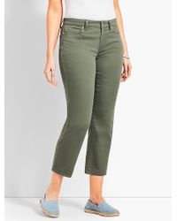 Talbots - Colored Denim Straight Leg Crop - Curvy Fit - Lyst