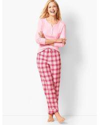Talbots - Pyjama Set - Flannel Glen Plaid - Lyst
