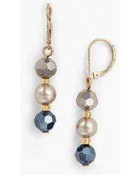 Talbots - Layered Bead Earrings - Lyst