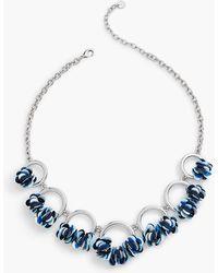 Talbots - Sequin Flower Necklace - Lyst