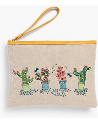 Talbots - Cactus-embroidered Novelty Wristlet - Lyst