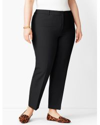 Talbots - Plus Size High-waist Tailored Ankle Pant - Lyst