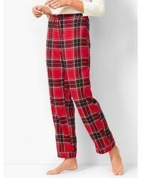 Talbots - Drawcord Pajama Pant - Yarn-dyed Tartan Plaid - Lyst ab1afd3d3