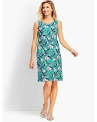 Talbots - Giraffe-print Shift Dress - Lyst