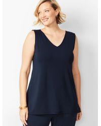 45c36af72347a9 Talbots - Plus Size Knit Jersey Shell - Lyst. Talbots - Plus Size Knit  Jersey Gathered-neck Top ...