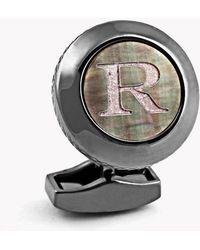 Tateossian   Personalised Initials Cufflinks - R   Lyst