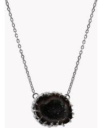 Tateossian - Geode Short Silver Necklace In Grey - Lyst