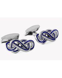 Tateossian - Enamel Silver Eternity Cufflinks - Lyst