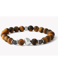 Tateossian - Nugget Beaded Silver Bracelet - Lyst