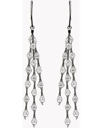 Tateossian | Liquid Diamonds Ruthenium Plated Silver Earrings | Lyst