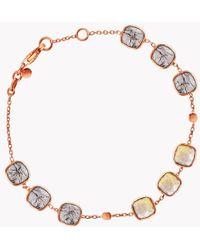 Tateossian - 14k Rose Gold Belgravia Bracelet With Gold And Black Rutilated Quartz - Lyst
