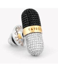 Tateossian - Pill Collection - Diamond Silver & Gold Micro Pavé Pin - Lyst
