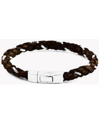 Tateossian - Click Scoubidou Weave Bracelet In Brown - Lyst
