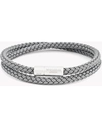 Tateossian | Rt Rubber Cable Bracelet | Lyst