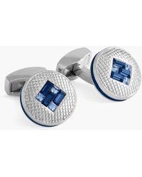 Tateossian - Sw Interlock Diamond Cufflinks - Lyst