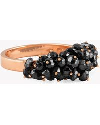 Tateossian - 18k Rose Gold Black Diamonds Beads Ring - (6.19ct) - Lyst