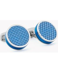 Tateossian | Tablet Cufflinks With Carbon Fibre | Lyst