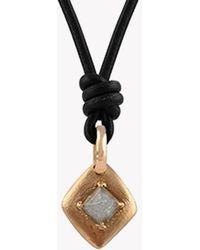 Tateossian - Grey Rough Diamond (2.45ct) Rose Gold Necklace - Lyst