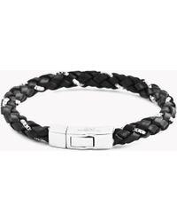 Tateossian - Click Scoubidou Weave Bracelet In Black - Lyst
