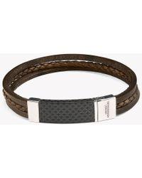 Tateossian | Carbon Slide Silver Bracelet | Lyst