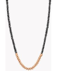 Tateossian - Bamboo Black Diamonds & 18k Gold Necklace - Lyst
