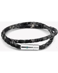 Tateossian - Pop Print Scoubidou Silver Bracelet In Grey - Lyst