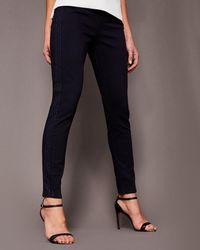 cd6cf776327003 Ted Baker - Embellished Panel Skinny Jeans - Lyst